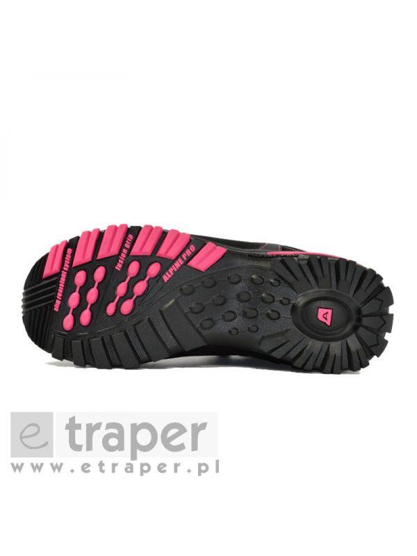 Damskie buty skórzane Alpine Pro Spider 2 Czarne/Różowe
