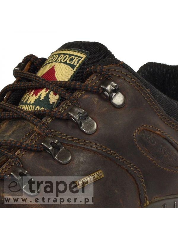 Niskie buty skórzane Red Rock 10309 Brązowe