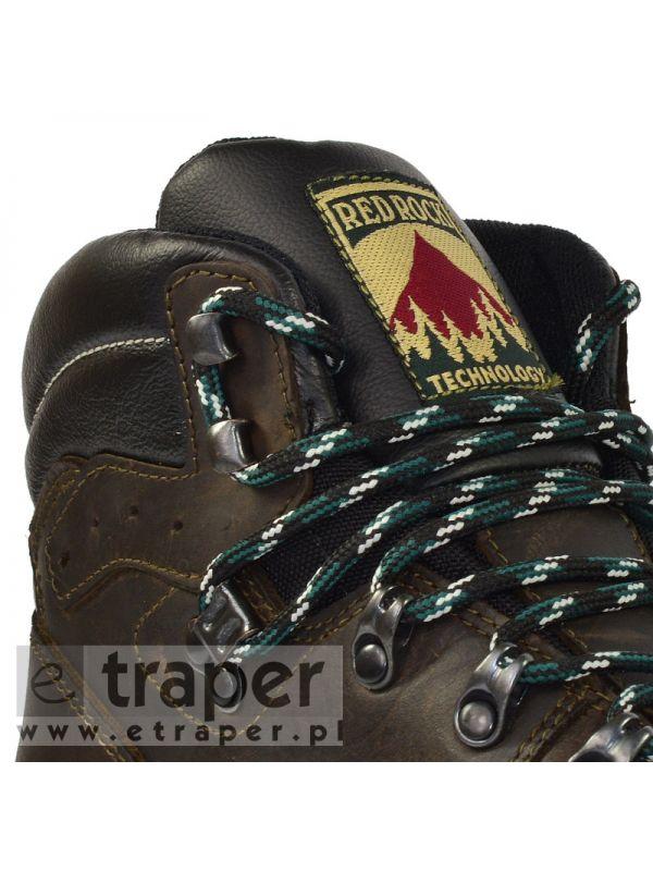 Skórzane trapery Red Rock 12801 Ciemny brąz
