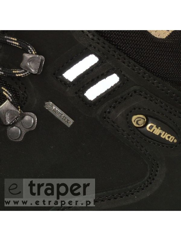 Czarne buty skórzane Chiruca Somiedo Gore-Tex