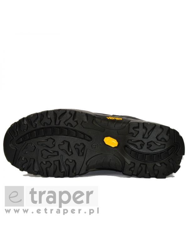Niskie buty skórzane Red Rock 10309 Czarne myśliwskie