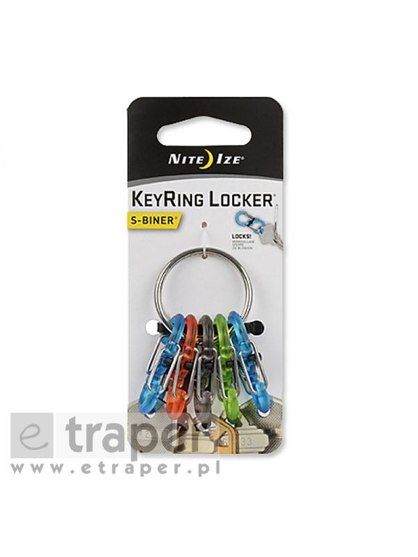 Brelok z karabinkami Nite Ize S-Biner Keyring Locker