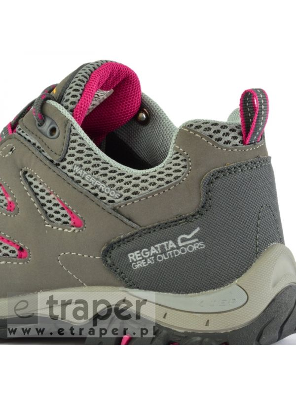 Damskie buty turystyczne niskie Regatta Holcombe IEP Szaro-różowe