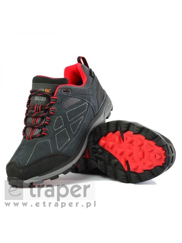 Szaro-czerwone buty damskie Regatta Suede Samaris