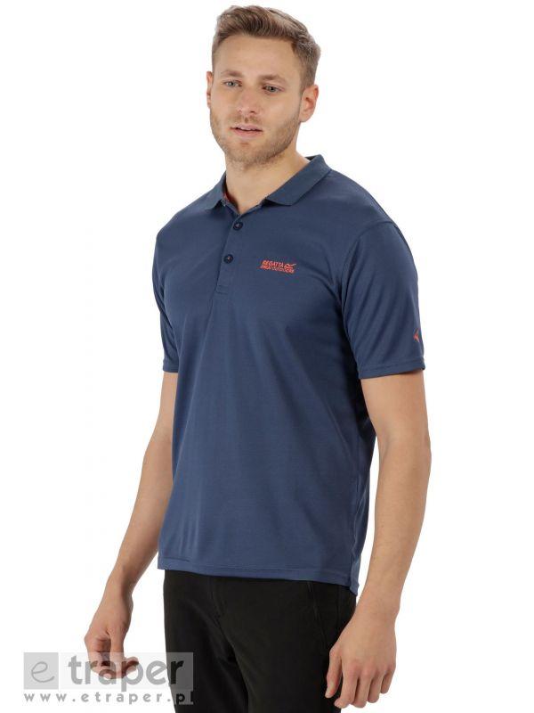 Niebieska koszulka polo techniczna Regatta Maverick IV