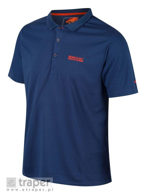Niebieska koszulka z kołnierzykiem Regatta Maverick IV
