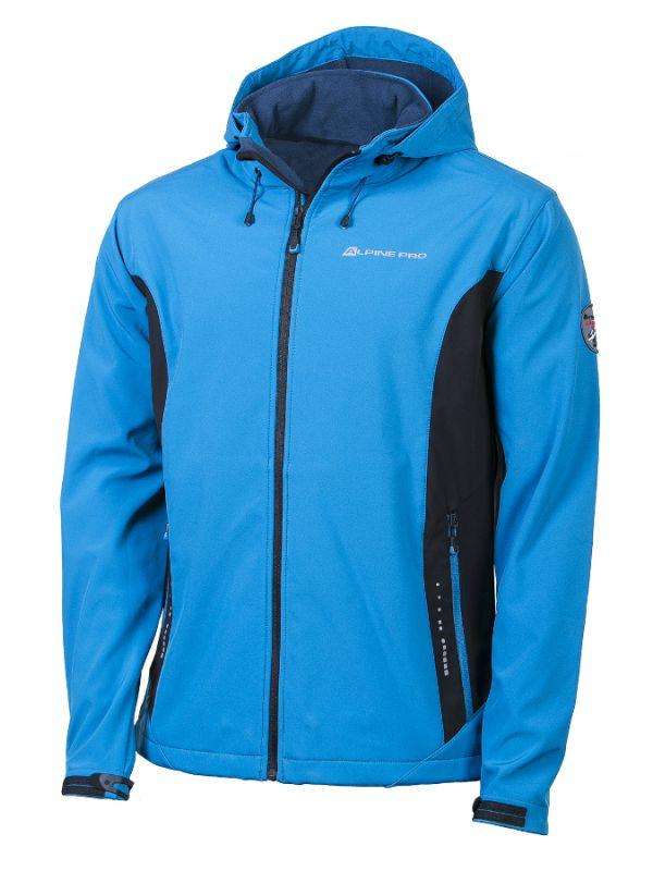 Bluza softshellowa z kapturem Alpine Pro Montrose II Niebieska