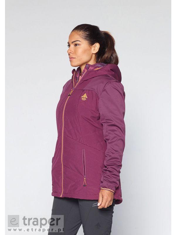 Przedłużona kurtka damska miejsko-turystyczna Berg Outdoor Kulani