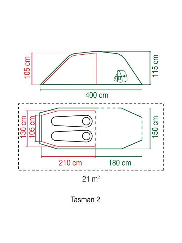 Namiot dwuosobowy Coleman Tasman 2