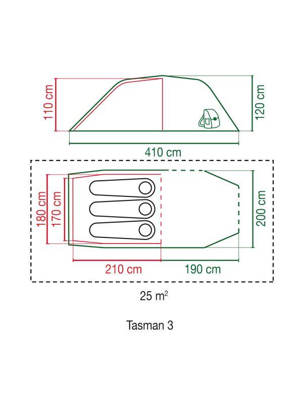 Namiot trzyosobowy Coleman Tasman 3
