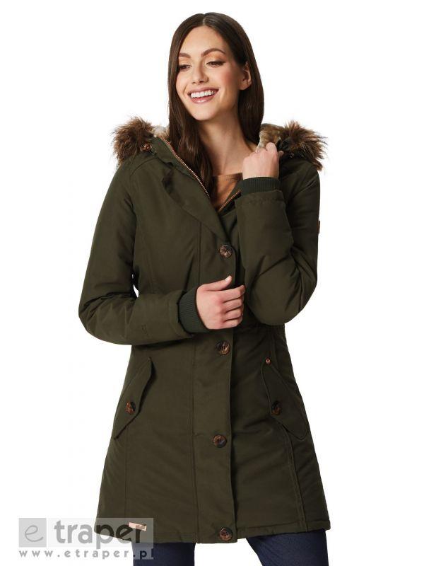 Płaszcz damski w kolorze butelkowej zieleni Regatta Saffira