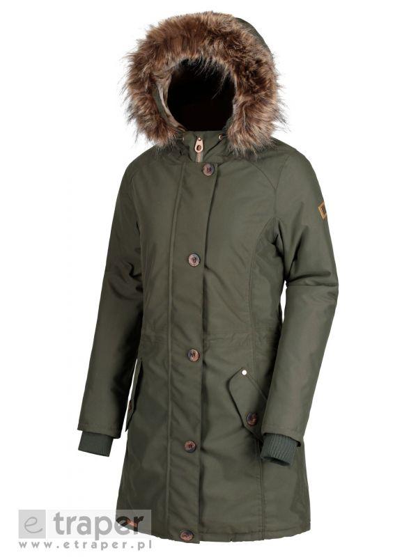 Oliwkowy płaszcz zimowy dla kobiet Regatta Saffira