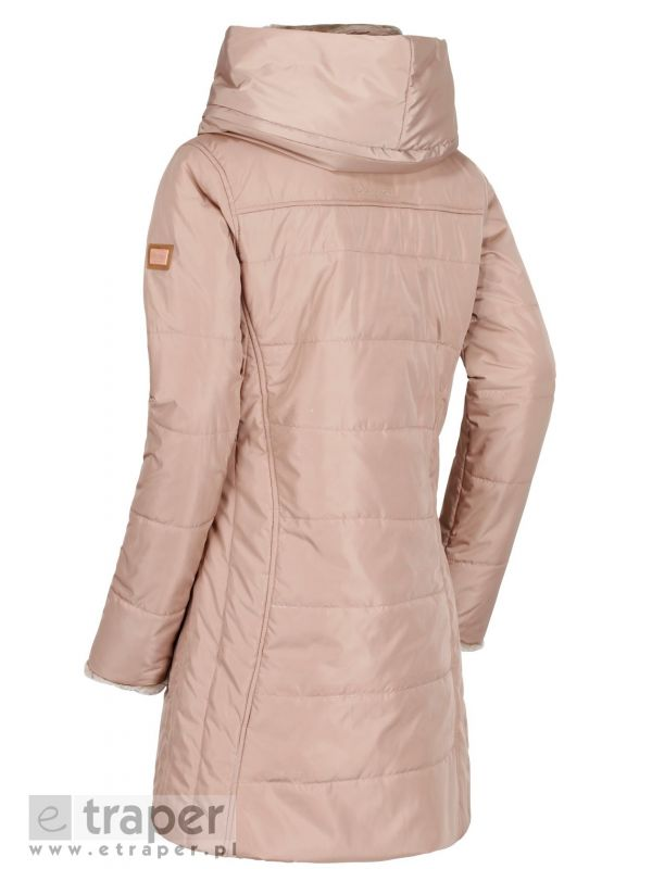 Jasno brązowy płaszcz na jesień damski Pernella