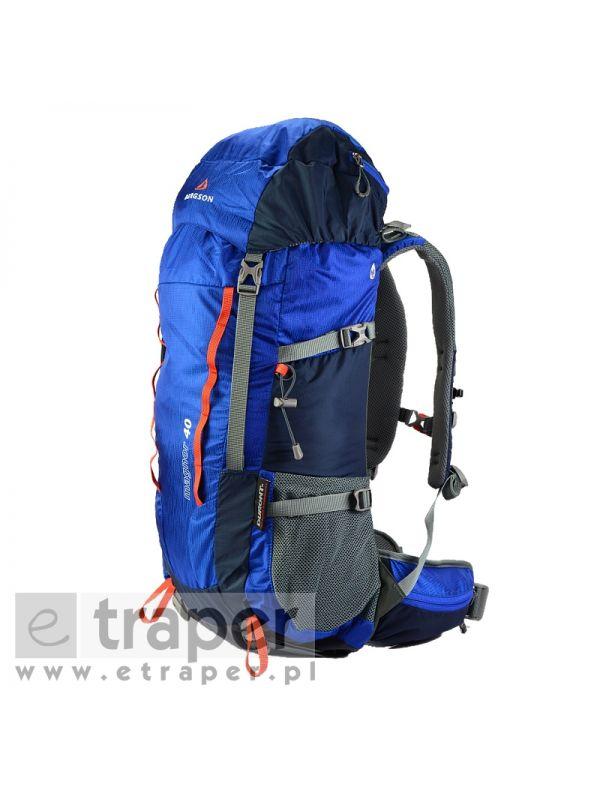 Niebieski plecak turystyczny Magnor marki Bergson