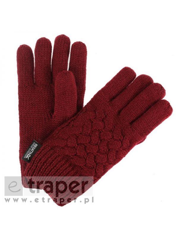 Rękawice zimowe Regatta Merle bordowe