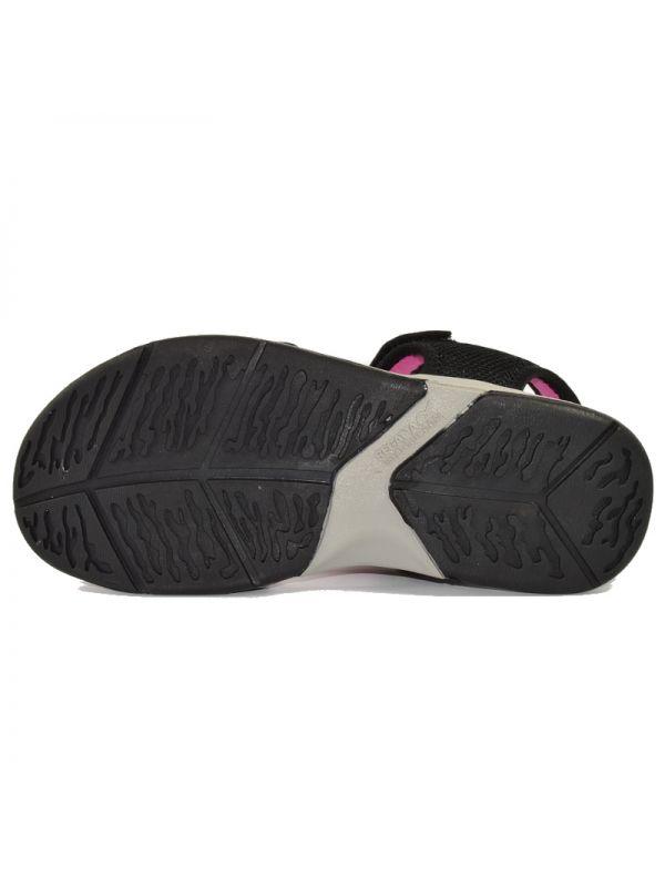 Damskie czarno-różowe sandały sportowe Regatta Terrarock