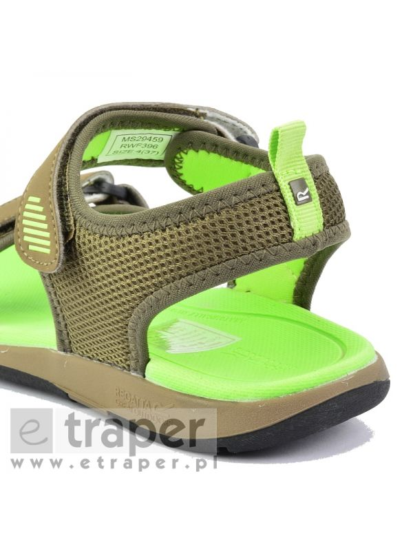 Damskie sandały sportowe Regatta Terrarock Szaro-zielone