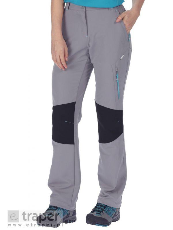 Damskie spodnie softshellowe Regatta Questra Szare