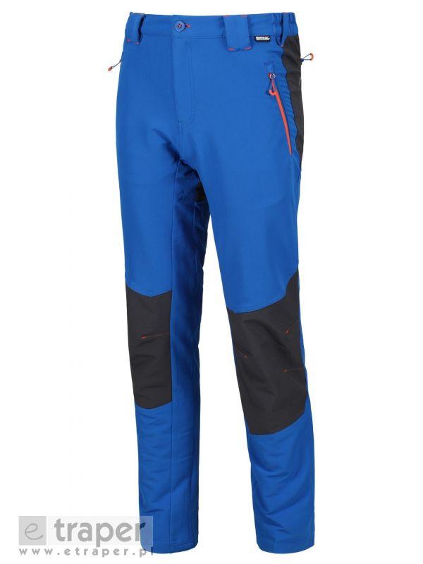 Softshellowe spodnie męskie Regatta Questra Niebieskie