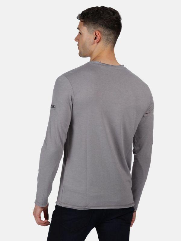 Szara bluzka męska z długim rękawem Regatta Karter