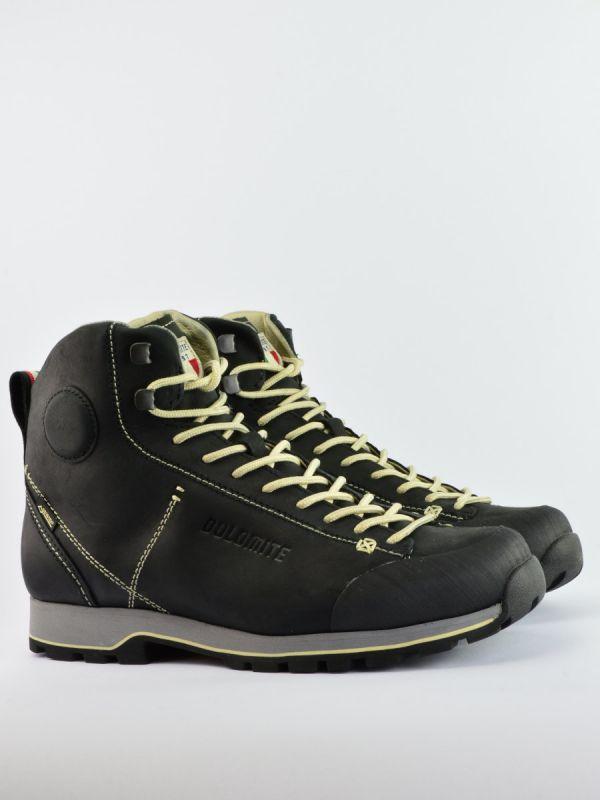 Czarne trapery męskie z nubuku Dolomite Cinquantaquattro High