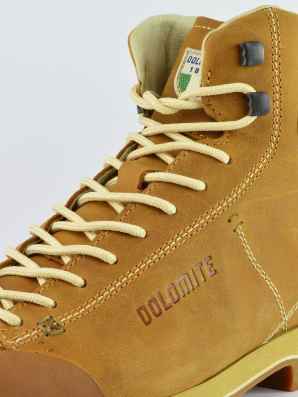 Brązowe skórzane trapery męskie Dolomite Cinquantaquattro High