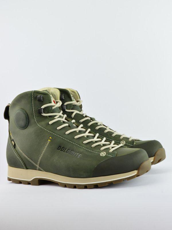 Zielone skórzane trapery męskie Dolomite Cinquantaquattro High