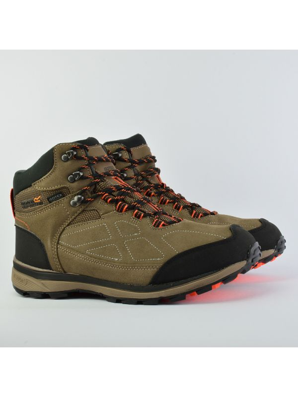 Brązowe męskie buty zamszowe Regatta Samaris Membrana Isotex