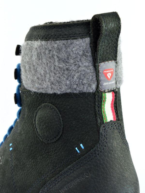 Czarne trapery miejskie skórzane Dolomite 54 Warm 2 WP
