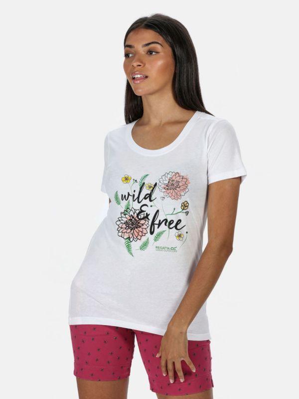 Biała koszulka damska Regatta Filandra IV