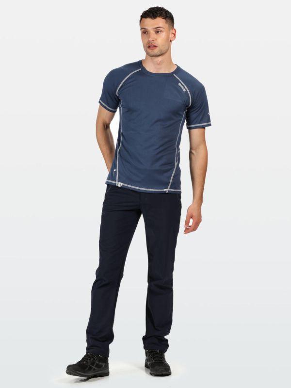 Granatowa koszulka sportowa męska Regatta Virda II