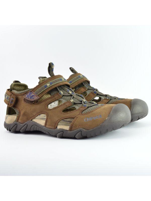 Skórzane sandały męskie zabudowane Chiruca Panama