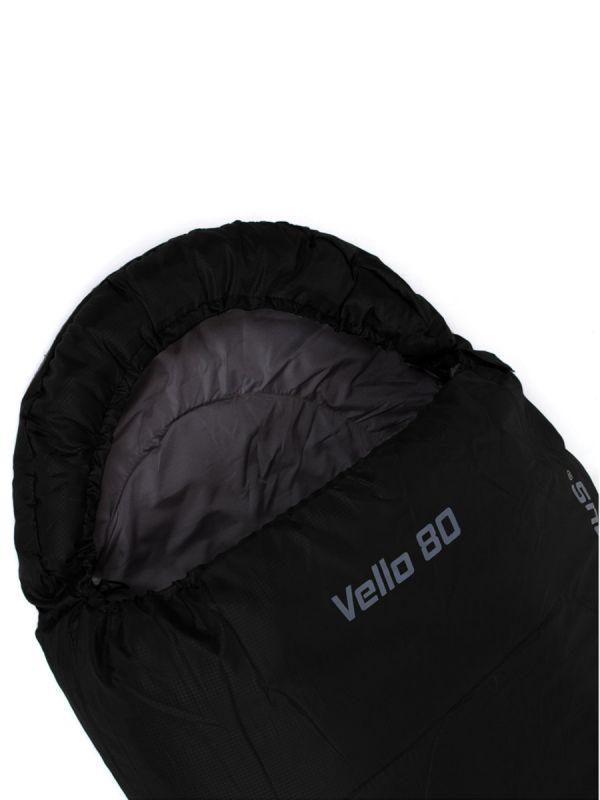 Czarny śpiwór mumia Campus Vello 80 Prawy