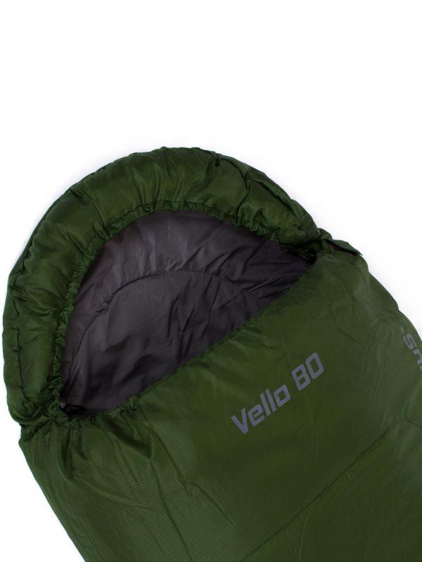 Zielony śpiwór mumia Campus Vello 80 Lewy