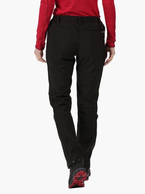 Damskie spodnie Regatta Geo Softshell II Czarne