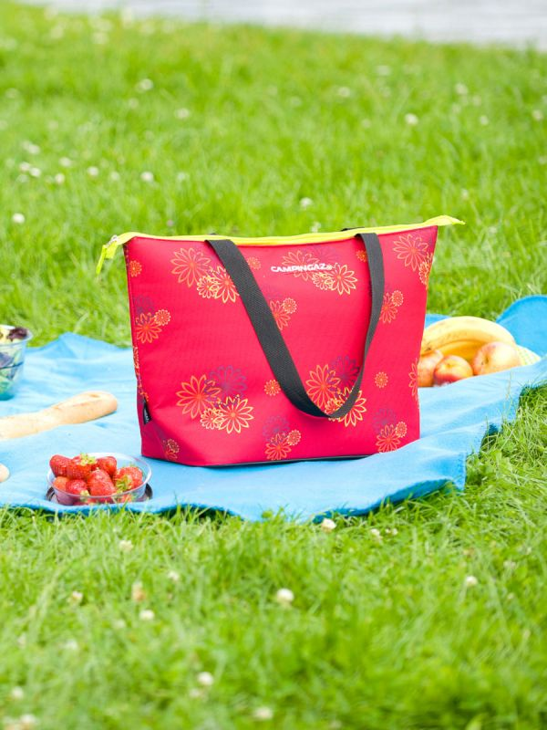 Damska torba termiczna na zakupy Campingaz Pink Daisy 15l
