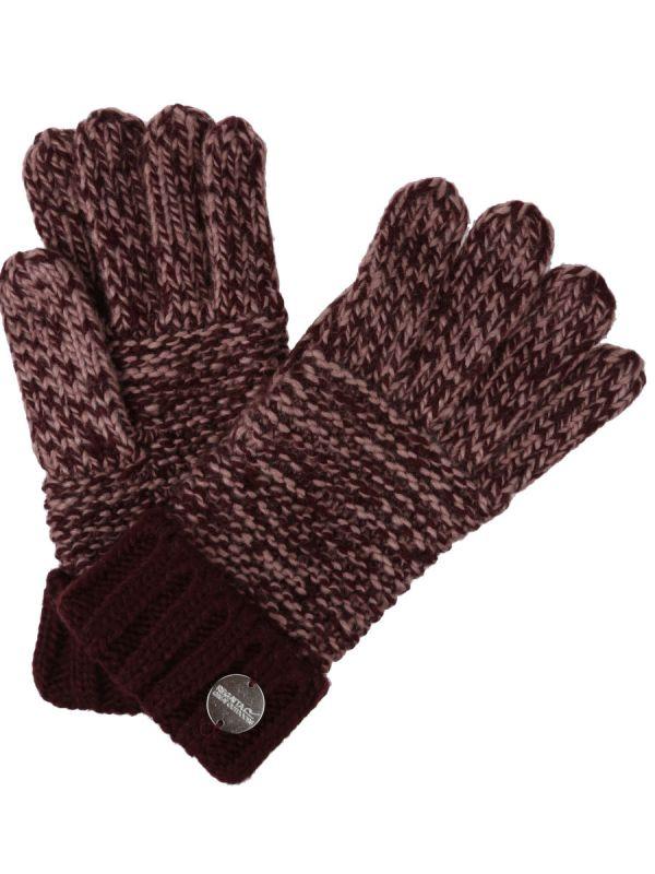 Brązowe eleganckie rękawiczki zimowe damskie Regatta Frosty