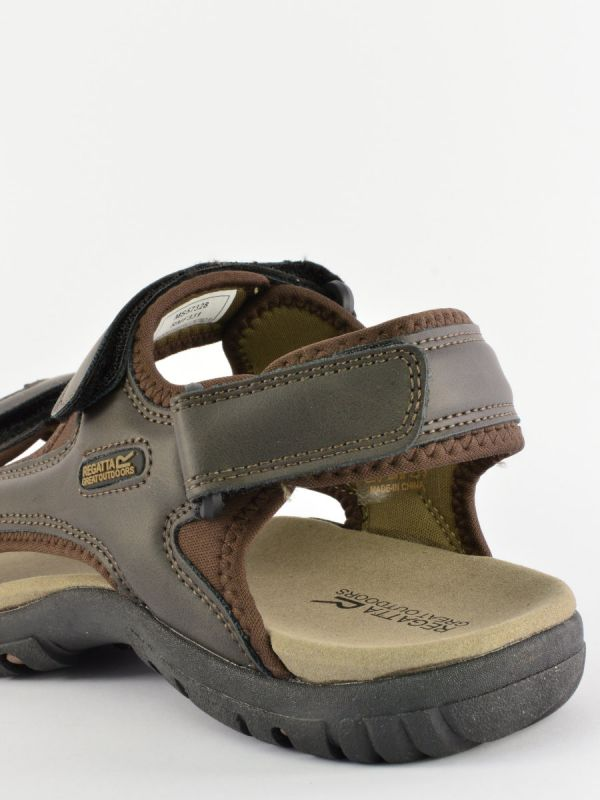 Brązowe sandały męskie Regatta Haris