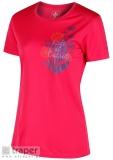 Różowa koszulka z nadrukiem Regatta Wmn Fingal III