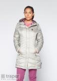 Srebrny płaszcz damski pikowany Berg Outdoor Intanki