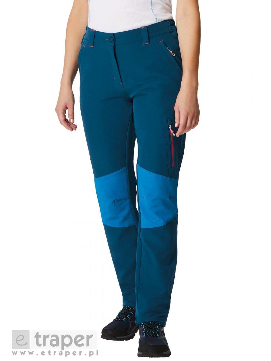 Damskie spodnie turystyczne Regatta Questra Softshell