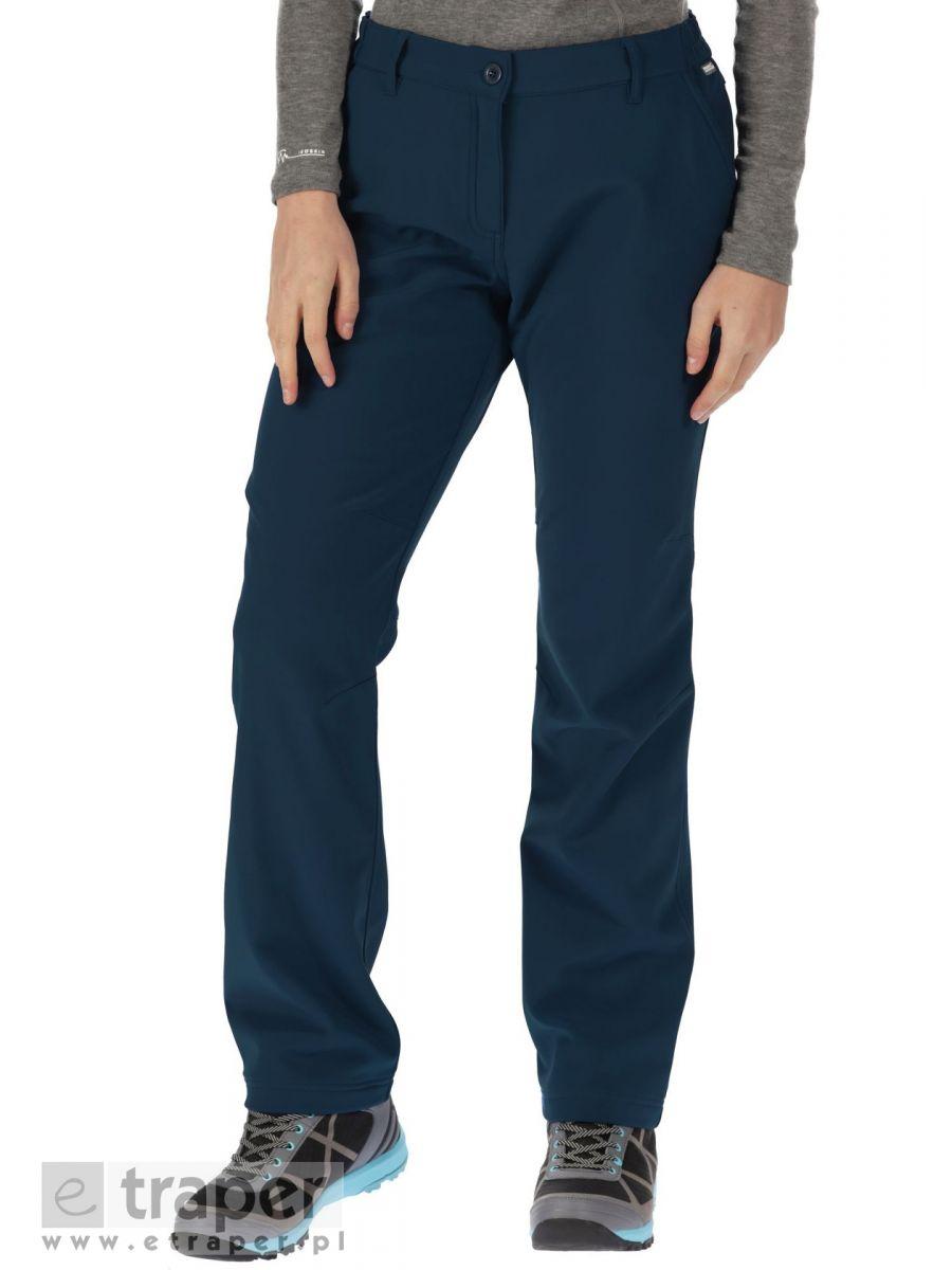 Granatowe spodnie damskie Softshell Regatta Fenton