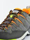 Szaro-pomarańczowe buty turystyczne niskie męskie Dolomite Crodarossa