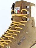 Ciepłe buty zimowe męskie z brązowej skóry Dolomite