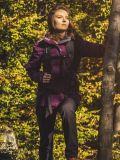 Śliwkowa kurtka trekkingowa 3w1 damska
