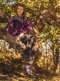Damski strój w góry kurtka Rapture, spodnie Medja, buty Nyika