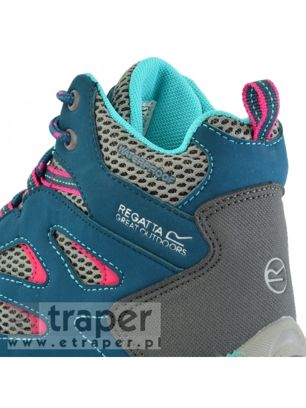 Buty dla dzieci z wodoodporna cholewką Regatta Holcombe JNR