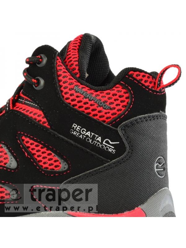 Czarno-czerwone buty dla dzieci