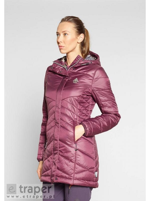 Pikowany płaszcz w kolorze bordo Intanki Berg Outdoor