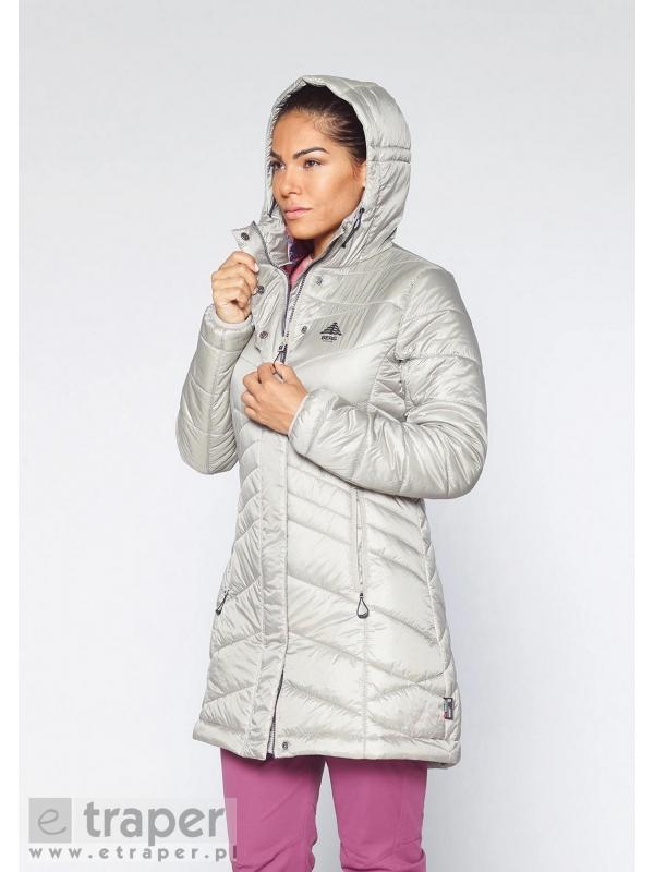 Ocieplany płaszcz damski pikowany Berg Outdoor Intanki Szary